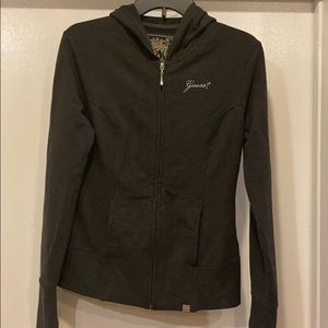 Guess lightweight/thin hoodie zip up